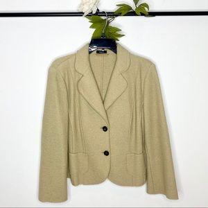 Riani Virgin Wool Camel 2-Button Blazer